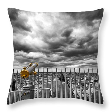 View Over The Roofs Of Paris Throw Pillow by Melanie Viola