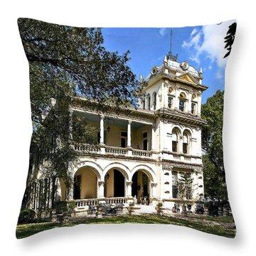 Villa Finale - A Last Home Throw Pillow by Lianne Schneider
