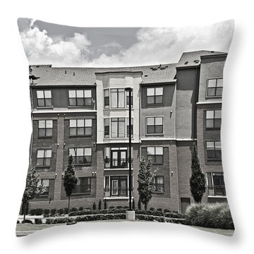 Village Street Throw Pillow by Susan Leggett
