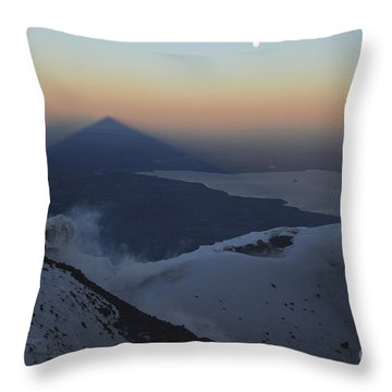Villarrica, Summit View With Shadow Throw Pillow by Martin Rietze