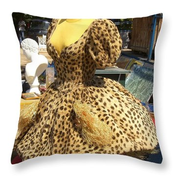 Vintage Dress At Flea Market Throw Pillow by Lainie Wrightson