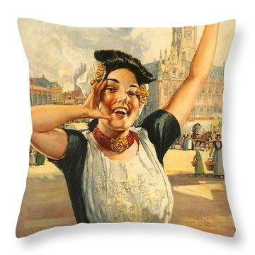Vintage Holland Throw Pillow by Georgia Fowler