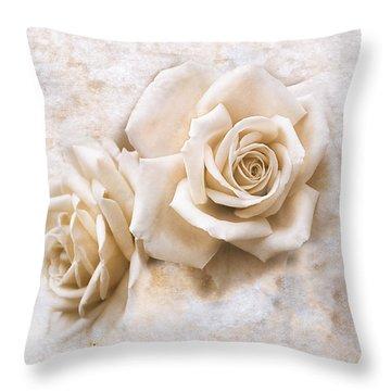 Vintage Rose Iv Square Throw Pillow by Jai Johnson