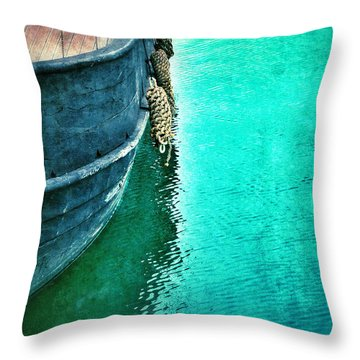 Vintage Ship Throw Pillow by Jill Battaglia