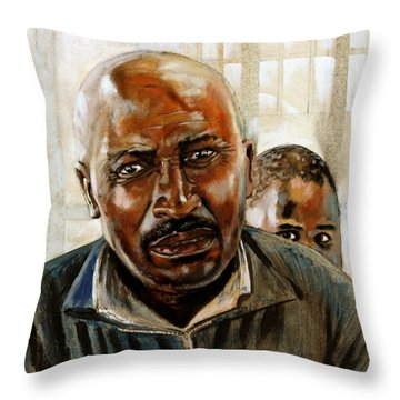 Visitor Throw Pillow by John Lautermilch