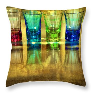 Vodka Glasses Throw Pillow by Svetlana Sewell