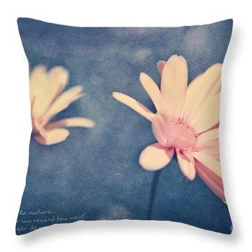 Voyager De Par Les Aromes Des Fleurs Throw Pillow by Aimelle