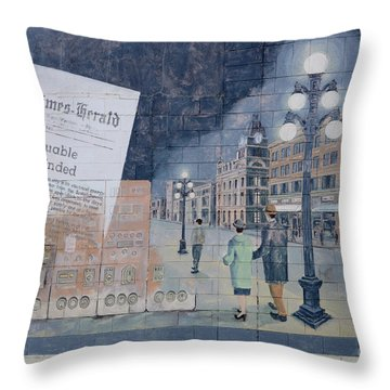 Wall Art Moose Jaw 2 Throw Pillow by Bob Christopher