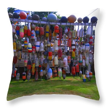 Wall Of Floats Throw Pillow by Kym Backland