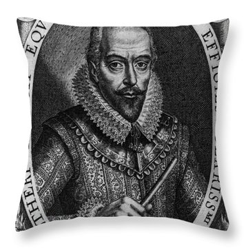 Walter Raleigh, English Courtier Throw Pillow by Photo Researchers