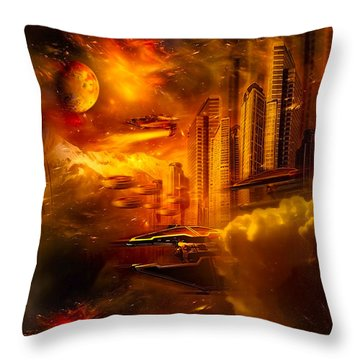 War And Death Throw Pillow by Svetlana Sewell