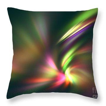 Warp Speed Throw Pillow by Kim Sy Ok