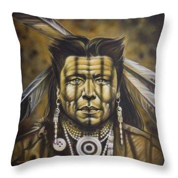 Warpath Throw Pillow by Tim  Scoggins
