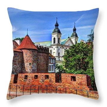 Warsaw Church Throw Pillow by Jon Berghoff