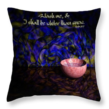 Wash Me Throw Pillow by Christopher Gaston