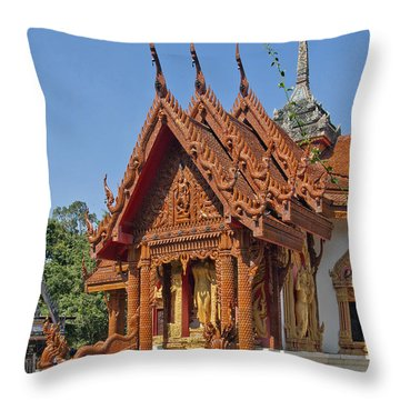 Wat Ban Tha Bo Ubosot Dthu200 Throw Pillow by Gerry Gantt