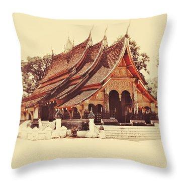 Wat Xieng Thong Throw Pillow by Danny Van den Groenendael