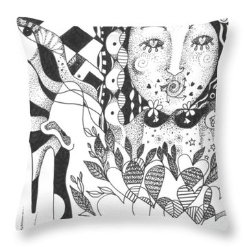 Ways Of Seeing Throw Pillow by Helena Tiainen