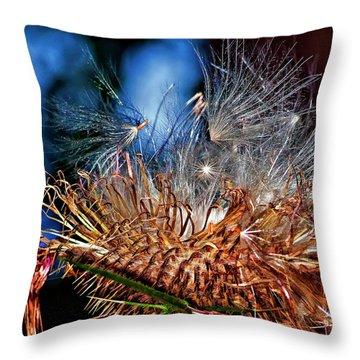Weed Orgy Buzzed Throw Pillow by Steve Harrington