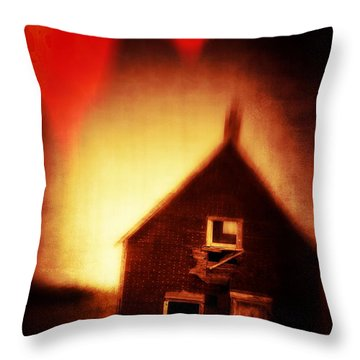 Welcome To Hell House Throw Pillow by Edward Fielding