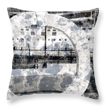 Welcome To The Moon Throw Pillow by Luke Moore