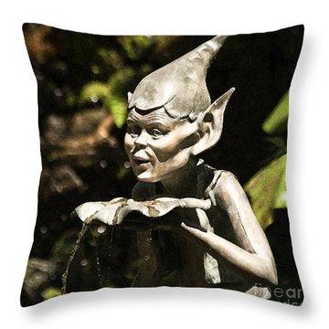 Well Gremlin Throw Pillow by Heiko Koehrer-Wagner