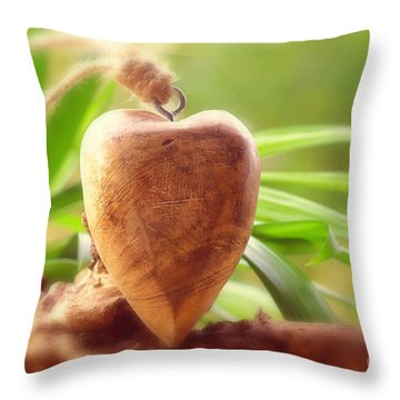 Wellnes Heart Throw Pillow by Tanja Riedel