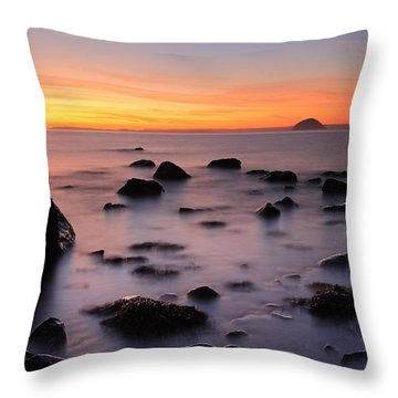 West Coast Sunset Throw Pillow by Grant Glendinning