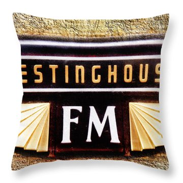 Westinghouse Fm Logo Throw Pillow by Andee Design