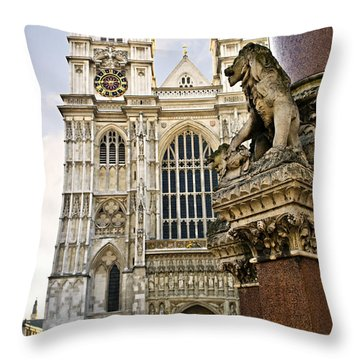 Westminster Abbey Throw Pillow by Elena Elisseeva