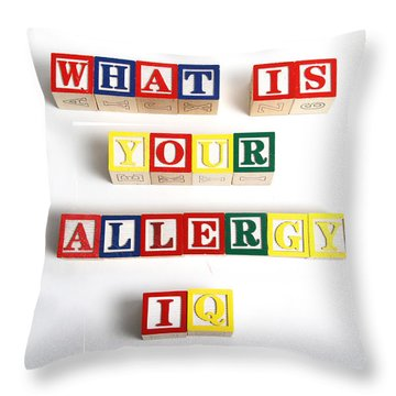 What Is Your Allergy Iq Throw Pillow by Photo Researchers