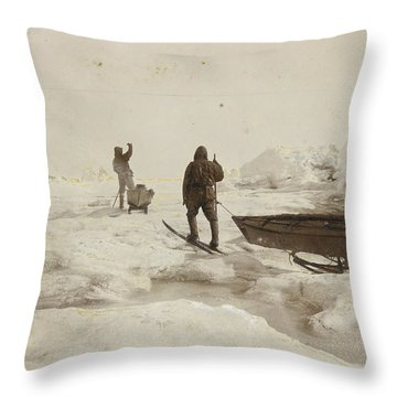When The Fram Did Not Reach The North Throw Pillow by Fridtjof Nansen