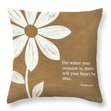 Where Your Heart Is Throw Pillow by Linda Woods