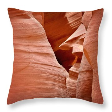 Whispers Of Inspiration - Arizona's Antelope Canyon Throw Pillow by Christine Till