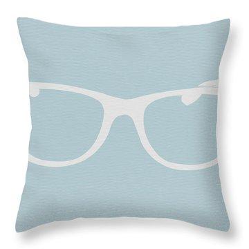 White Glasses Throw Pillow by Naxart Studio