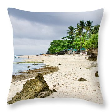White Sand Beach Moal Boel Philippines Throw Pillow by James BO  Insogna