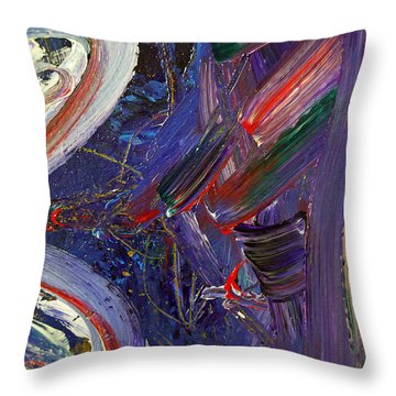 Who Sees ... Throw Pillow by Gwyn Newcombe