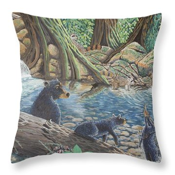 Whos Got Who Throw Pillow by Carey MacDonald