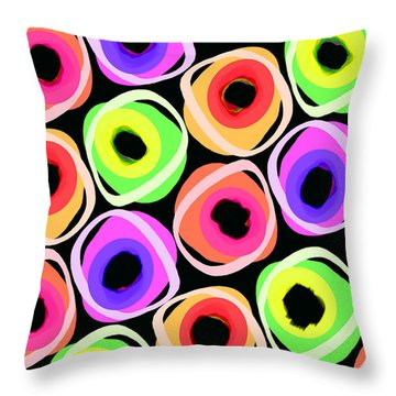 Wild Spots Throw Pillow by Louisa Knight
