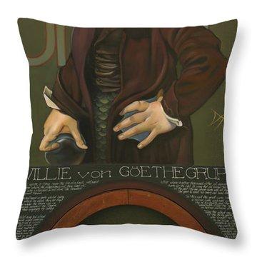 Willie Von Goethegrupf Throw Pillow by Patrick Anthony Pierson