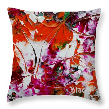 Wilted Flowers Throw Pillow by Donna Blackhall