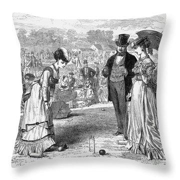 Wimbledon: Croquet, 1870 Throw Pillow by Granger