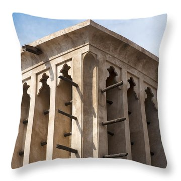 Wind Tower Throw Pillow by Fabrizio Troiani