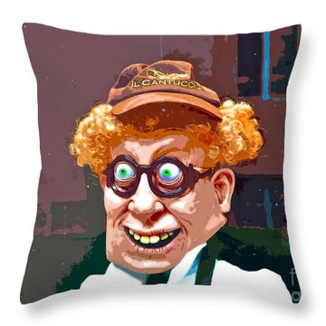Window Greeter Throw Pillow by Gwyn Newcombe