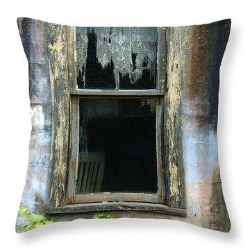 Window In Old Wall Throw Pillow by Jill Battaglia