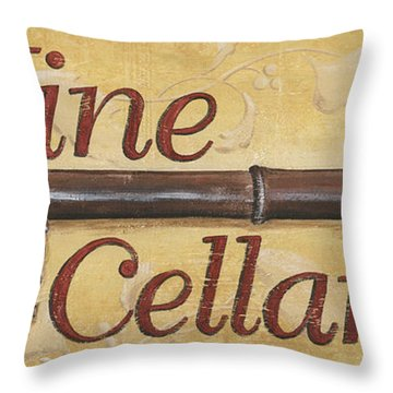 Wine Cellar Throw Pillow by Debbie DeWitt