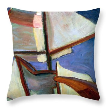 Wing And Wing Throw Pillow by Bob Dornberg
