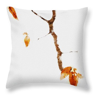 Winter Interludes Throw Pillow by Ron Jones