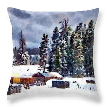 Winter Seclusion Throw Pillow by Jeff Kolker