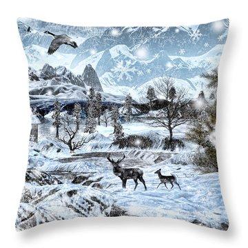 Winter Wonderland Throw Pillow by Lourry Legarde